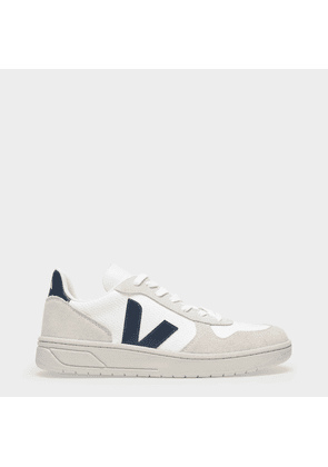 V-10 Sneakers in White and Blue B-Mesh
