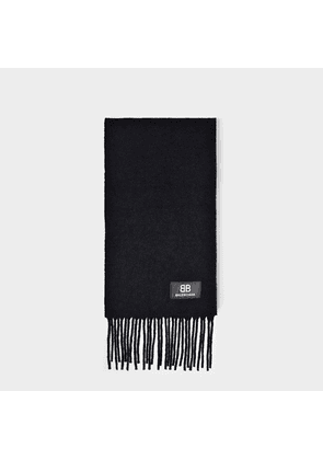 Scarf in Black Boucled Wool