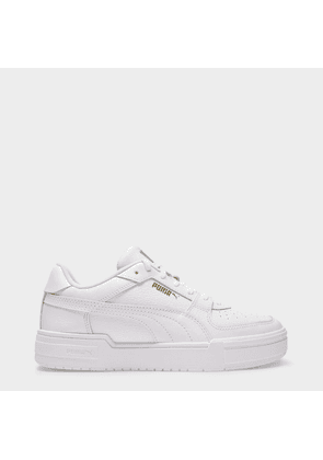 CA Pro Sneakers in White Leathers