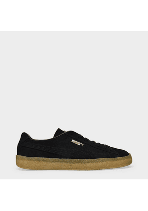Suede Crepe Sneakers in Black Suede Leather