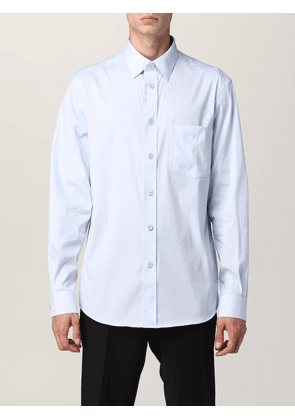 Burberry shirt in stretch cotton blend with monogram