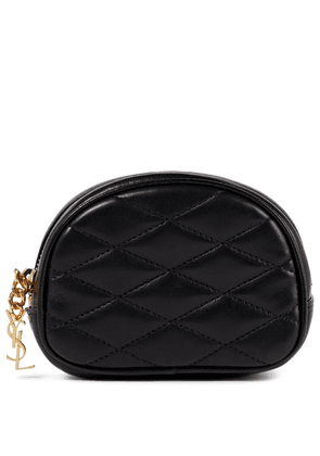 Lolita quilted leather pouch