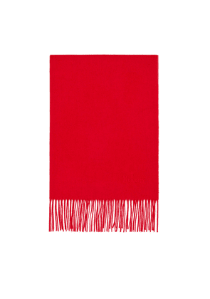 Mulberry Solid Lambswool Scarf - Scarlet