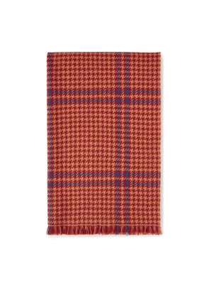 Mulberry Reversible TriColour Check Scarf - Rust