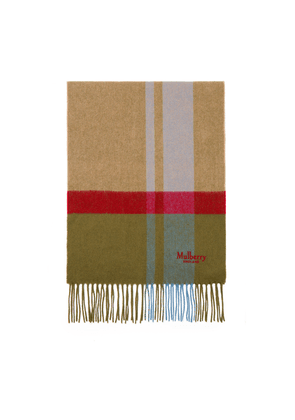 Mulberry Cashmere Blend Scarf - Moss