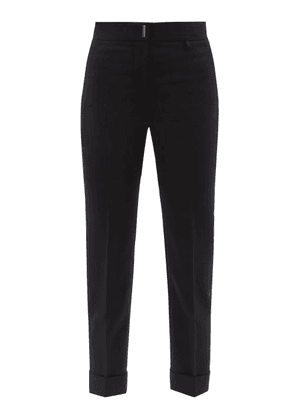 Givenchy - High-rise Wool-blend Straight-leg Trousers - Womens - Black