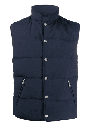 Eleventy down-padded quilted gilet - Blue
