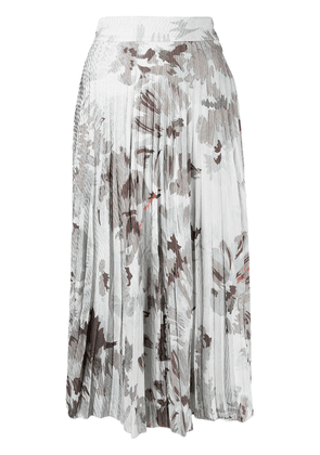 Off-White floral-print pleated skirt - Grey