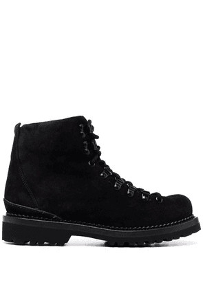 Buttero lace-up suede ankle-boots - Black