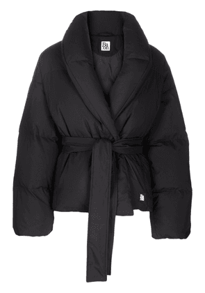 Bacon belted puffer jacket - Black