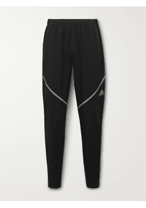 adidas Sport - Saturday Tapered Recycled AEROREADY Tech-Jersey Track Pants - Men - Black - S