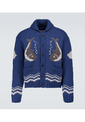 River Fish wool and mohair cardigan