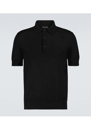 Cashmere and silk short-sleeved polo