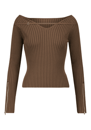 La Maille Oro ribbed knit sweater
