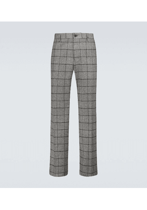 Wool-blend checked pants
