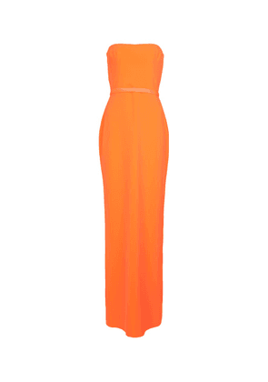 Cassidy strapless satin-crêpe gown