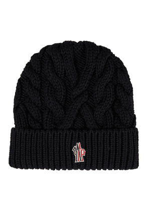 Cable-knit virgin wool beanie
