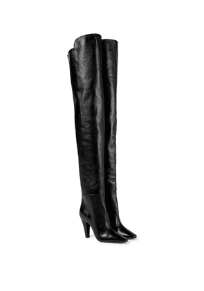 Betty leather over-the-knee boots