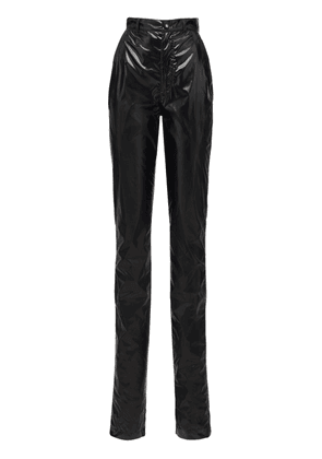 Laminated Vynil Effect Straight Pants