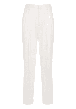 Tailored Pleated Wide Wool Pants