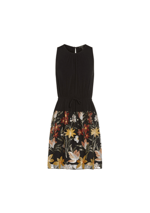 Aidan Mattox Embroidered Fit And Flare