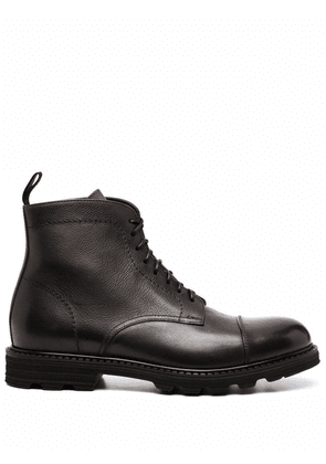 Doucal's ankle lace-up boots - Black