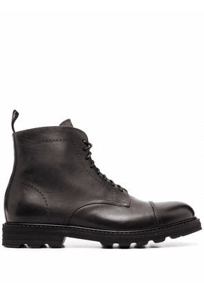 Doucal's ankle lace-up boots - Grey
