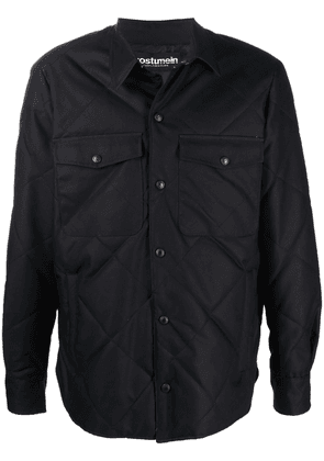 Costumein collared quilted jacket - Black