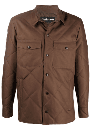 Costumein quilted collared jacket - Brown