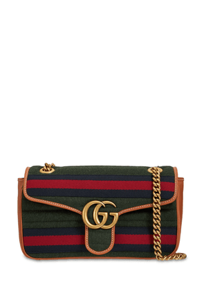 Small Gg Marmont Wool Shoulder Bag