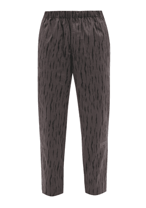 Billionaire Boys Club - Logo-embroidered Striped Cotton-ripstop Trousers - Mens - Grey
