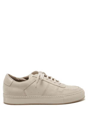 Common Projects - Bball Nubuck And Leather Trainers - Mens - Light Beige
