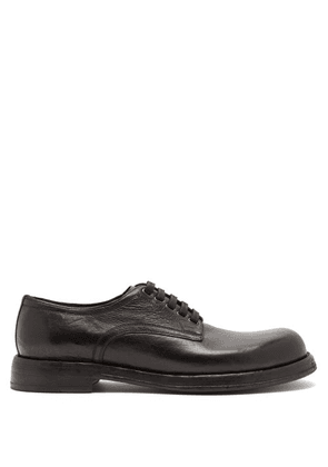 Dolce & Gabbana - Textured-leather Derby Shoes - Mens - Black