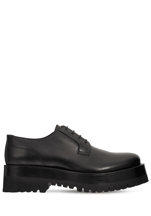 Chunky Leather Derby Lace-up Shoes