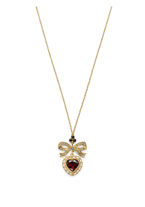 Dolce & Gabbana 18kt yellow gold heart bow pendant necklace