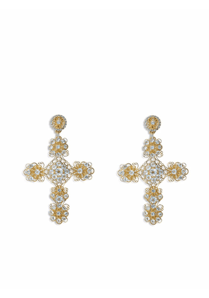 Dolce & Gabbana 18kt yellow gold Pizzo clip-on earrings