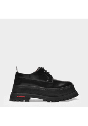 Derbies Jefferson in Black Smooth Leather