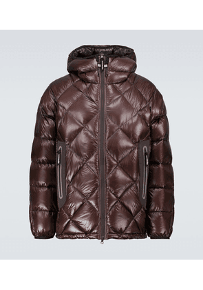 Diamond-quilted down jacket