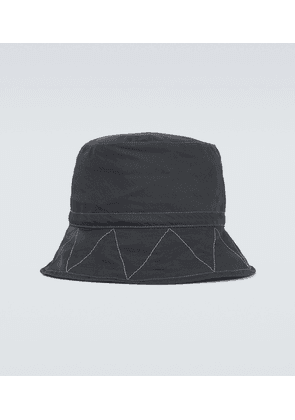 Cotton and nylon-blend bucket hat