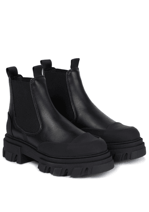 Low-rise leather Chelsea boots