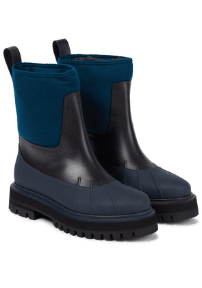 Regent leather ankle boots