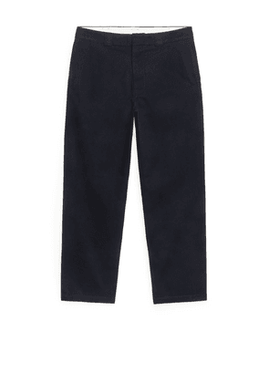 Loose Twill Trousers - Blue
