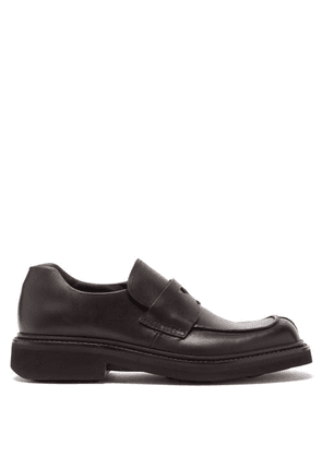 Prada - Chunky-sole Leather Loafers - Mens - Black