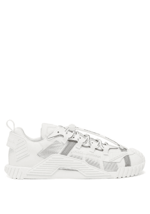 Dolce & Gabbana - Leather And Neoprene Trainers - Mens - White