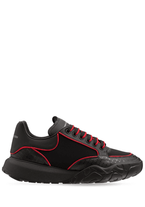 Tech & Leather Lace-up Sneakers