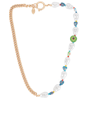 8 Other Reasons Beau Necklace in Metallic Gold.