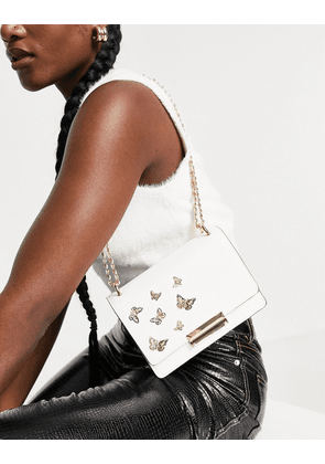 ALDO Dalsby cross body bag in white and gold
