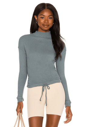 Chaser Tie Waist Top in Teal. Size XS, M, L.