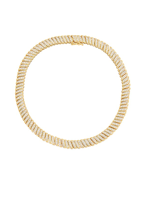 BRACHA Cabo Glam Necklace in Metallic Gold.