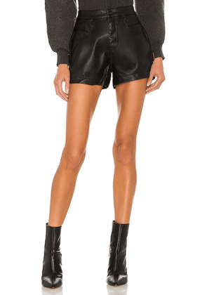 Free People CRVY Vegan Lace Up Short in Black. Size 27.